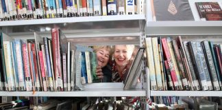 Anna Gully and Sarah Fry from the Elma Turner Library in Nelson prepare to move every single book in the library ahead of its makeover this week.