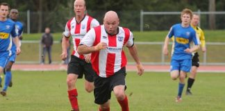 Derryn French in action for FC Nelson Fuji Xerox