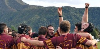 Murchison celebrate winning the Car Company division two title