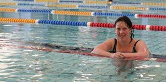 Cheryl Baxter winner of the Go for Gold Swim Challenge at Riverside.