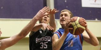 Nayland College basketball player Nathan Dempster drives to the hoop during last week's NZSS AA Basketball Championship in Nelson. Photo: Phillip Rollo.