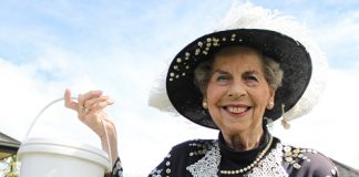 The Pearly Queen Shirley Miles is getting close to her goal of raising $100,000 for the Nelson Hospice. Photo: Phillip Rollo.