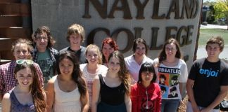 Nayland College students who have earned a scholarship for tertiary study next year, from left; Bonnie Brown, Marley Richards, Greg Williams, Michaela Matenga, Hayden de Jong, Ashleigh Rae, Jessica Edwards, Anna Lineham, Giselle Colman, Kate Pham, Annelies Griemink and Zaimon Sansom. Photo: Andrew Board.