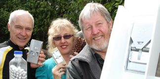 Local members of BLOG, a pest control group in Nelson are hoping residents will help their cause to keep pest numbers down. They are from left; Bryce Buckland, Janet Whittington and Bruce Thomas. Photo: Andrew Board.