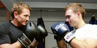 Scott Gibbons and Cameron-Ryan Fracey will square off in next month's Fight 4 Victory charity boxing event at the Trafalgar Centre. Photo: Phillip Rollo.