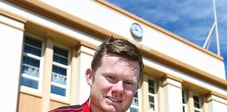 Former Nelson College first XV captain Mitchell Drummond was last week named in the Crusaders squad for the 2014 Super Rugby season. Photo: Phillip Rollo.