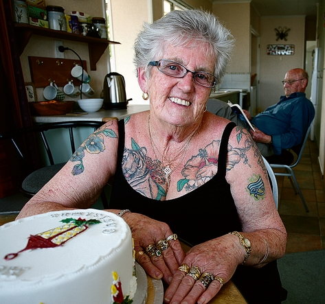 A Local Grandma S Love For Tattoos Nelson Weekly