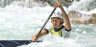 Tommy McDowell competes in the canoe slalom at the Buller Festival over the weekend. Photo: Barry Whitnall/Shuttersport.
