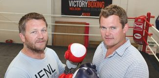 Paul Hammett, left, will square up to Stonewood Homes co-owner, Rhys Horncastle. Photo: Andrew Board.