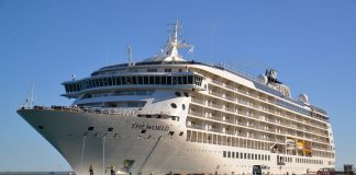 The Cruise ship MS The World will stay in Nelson for one day. Photo: Brittany Spencer.