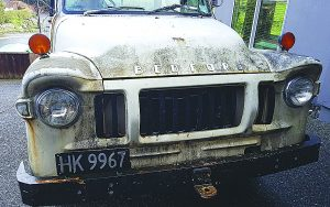 Dion's grandfather's 1974 Bedford truck after he bought it, but before it was recently restored. Photo: Supplied.