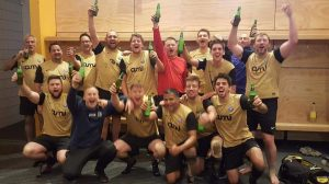 Nelson Suburbs Rovers celebrate after winning the Nelson Bays Football fourth division on Saturday. Photo: Supplied.