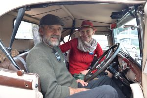 Wakefield's John and Rosie Herd drove their lovingly restored 1930 Ford Model A in Sunday's Daffodil Rally for Cancer. Photo: Brittany Spencer.