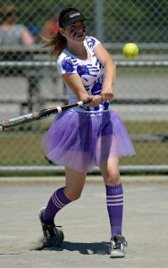 Olivia Collville in action for the Double Jays in Saturday's final. Photo: Barry Whitnall/Shuttersport.