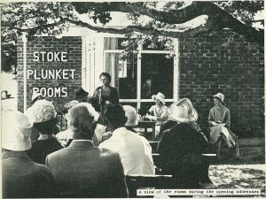 Lady Frances Whitehead opens the Stoke Plunket rooms in 1964.