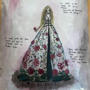 Nayland College student Ivy Weir won the Tony Catford Shakespeare Costume Design Competition at the University of Otago Sheilah Winn Shakespeare Festival. Photo: Charles Anderson.