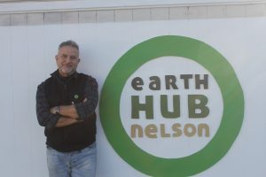 Jose outside the Earth Hub on Haven Rd.