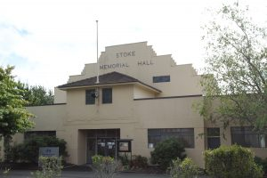The Stoke Memorial Hall is the second building deemed to be a risk. Photo: Harri Jordan.