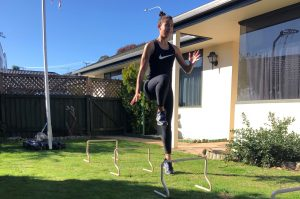 Nelson sprinter Micayla Whiti has had to get creative with her training. Photo: Supplied.