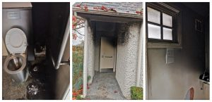 The toilet facilities at Broadgreen Historic House were damaged by arson in June. Photo: Supplied.
