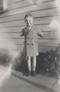 Rodney Haines as a child in Nelson.
